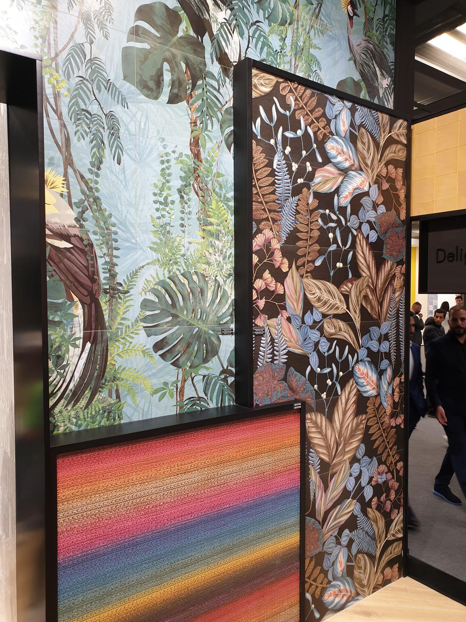 Płytki dekoracyjne ścienne z motywem Fauny i Flory