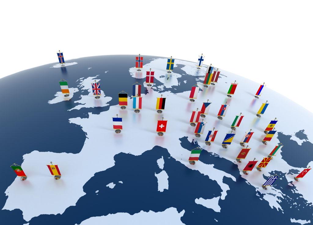Mapa dostaw Unia europejska