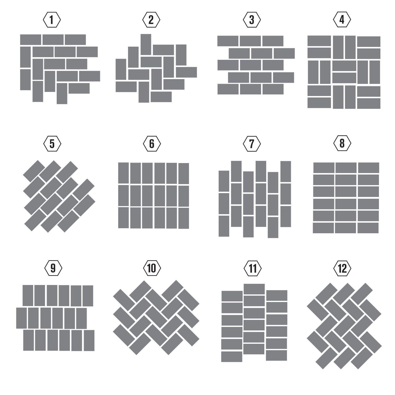 Sposoby układania płytek metro cegiełek