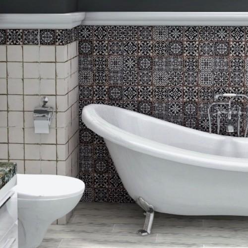 łazienkowe płytki patchwork