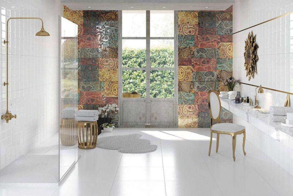 monokolorowa łazienka
