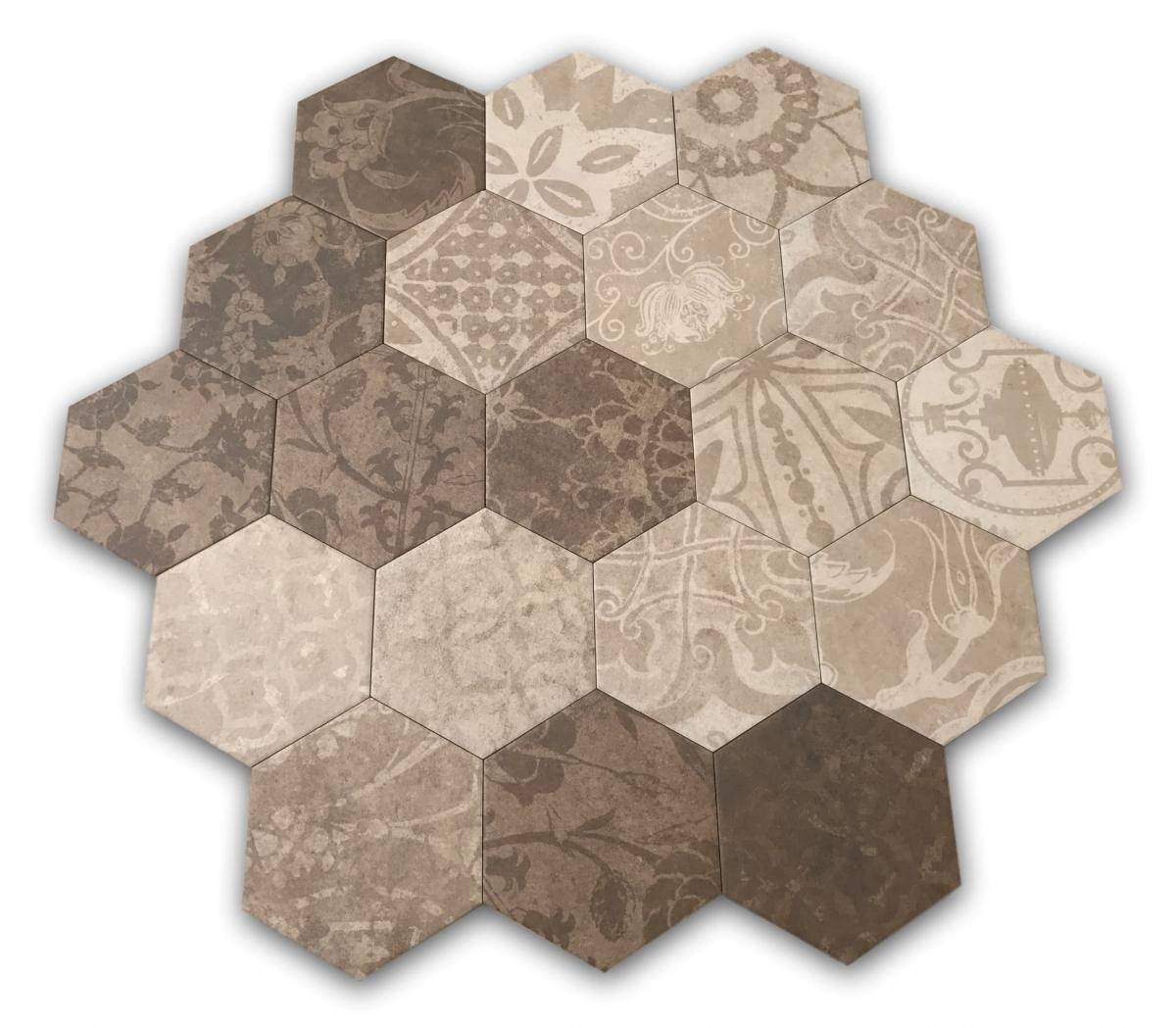 Płytki heksagonalne - pakiet elementów modułowych