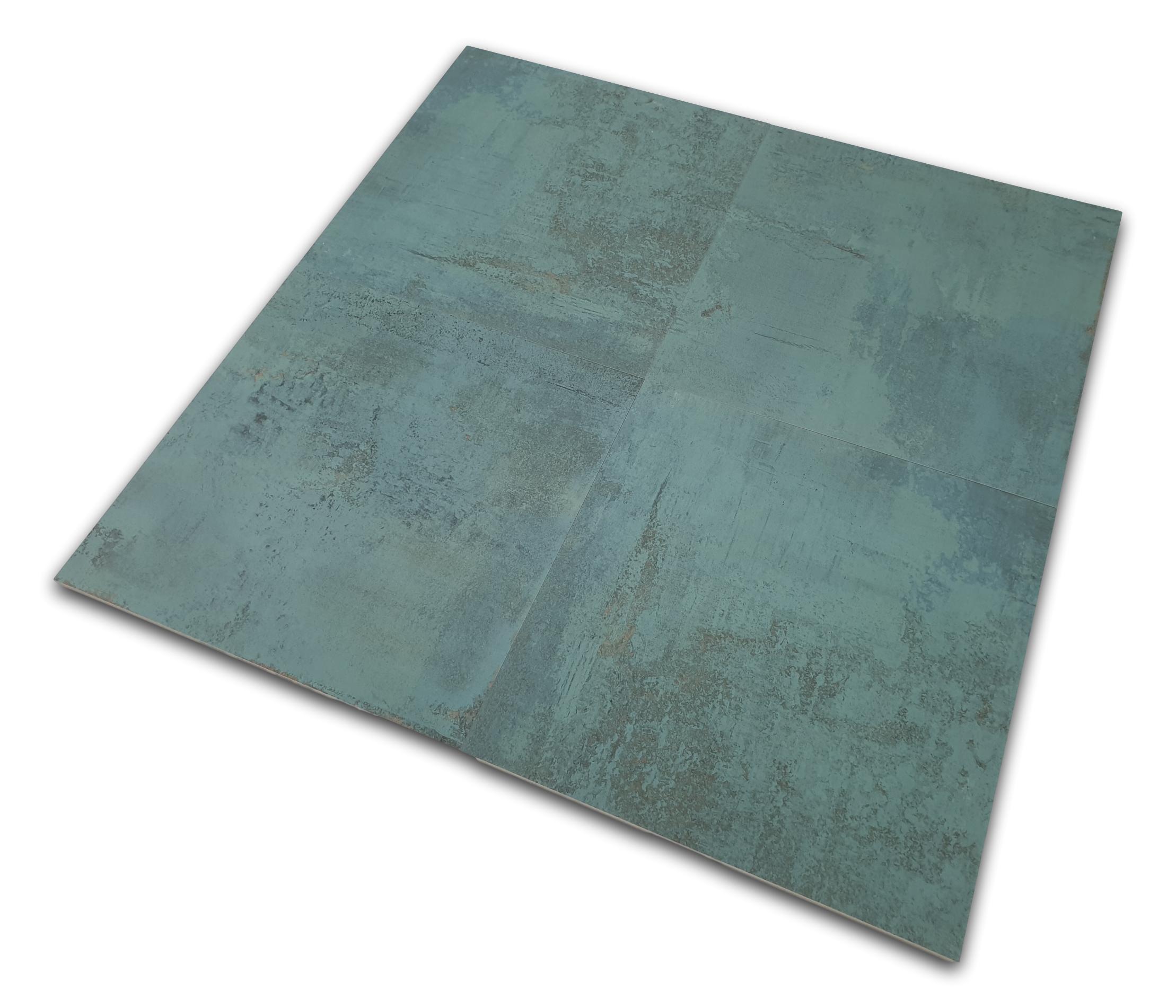 Metallic Green Natural 59.55x59.55 płytki podłogowe metalizowane nowoczesne