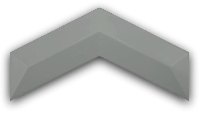3D Chevron Hematite 13x25 płytki ścienne cegła
