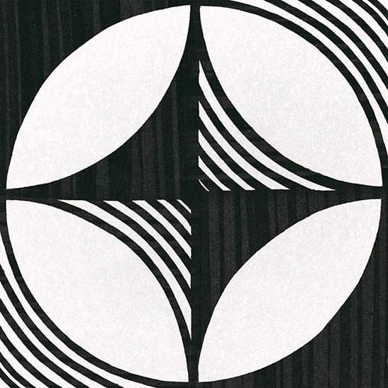 Caprice Deco Compass B&W 20x20 płytka patchworkowa