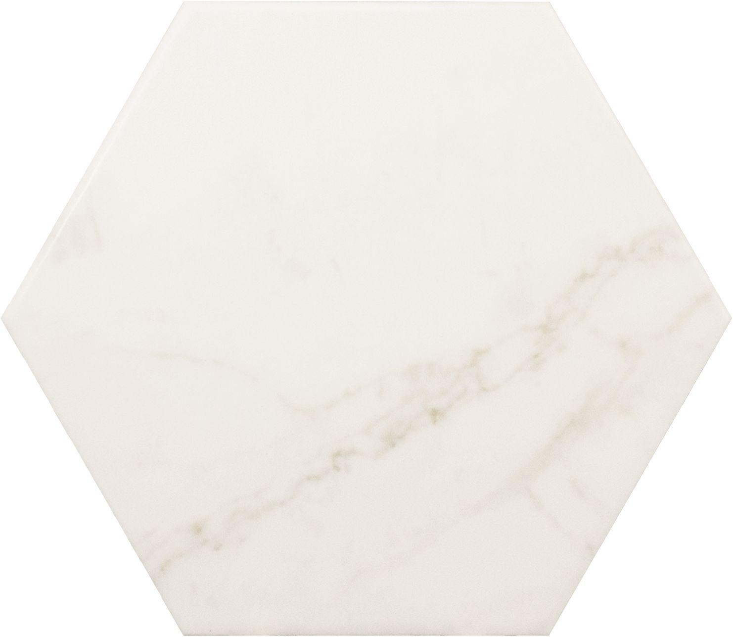 equipe hexagon biały marmur płytka na ściane podłoge 17,5x20 łazienka biały marmur