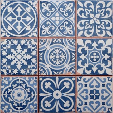 płytki niebieskie patchwork na podłogę do łazienki i ścinę do salonu PERONDA FS FAENZA-A 33X33