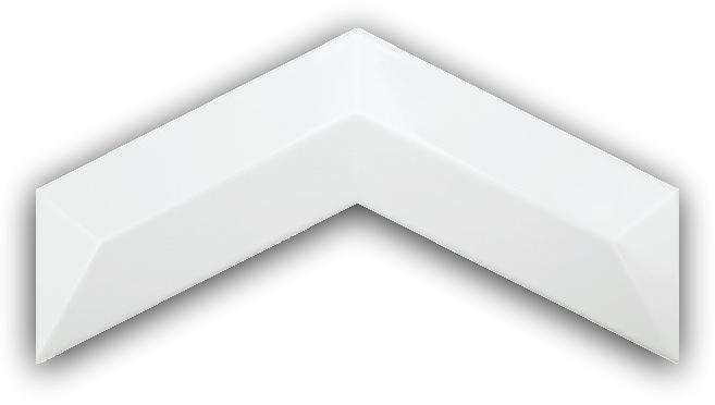 3D Chevron Quartz 13x25 płytki ścienne cegła