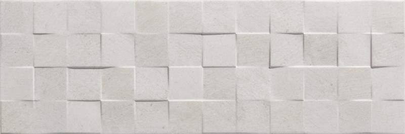 szare dekoracje płytki zenith strukturalne 25x75 łazienkowe 3d aparici