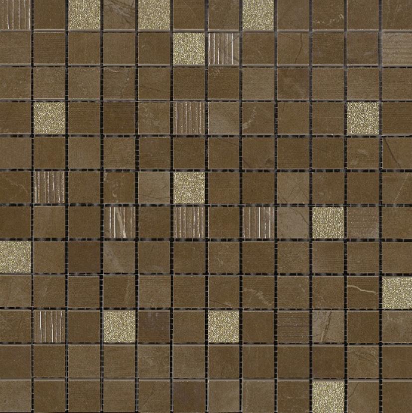 mozaika brązowa 30x30 aparici Imarble Pulpis Dec Mosaic