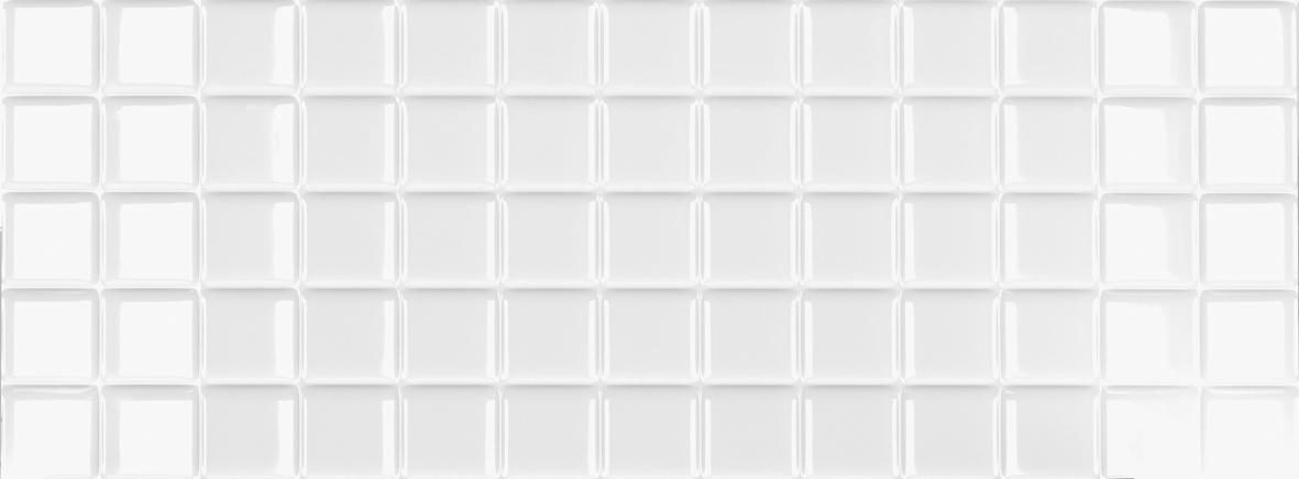 białe płytki łazienkowe mozaika Markham White Square Mate Aparici