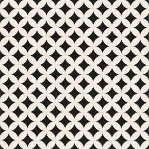 Realonda czarno biała płytka patchowork 45x45