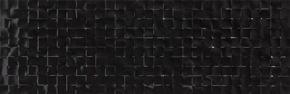 płytki dekoracyjne czarne 25x75 satynowe modne do łazienki  Aparici Solid Black Focus