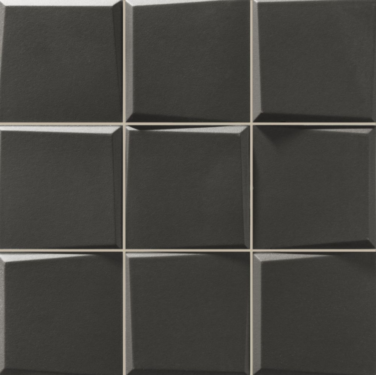 Pattern Negro Matt 33x33