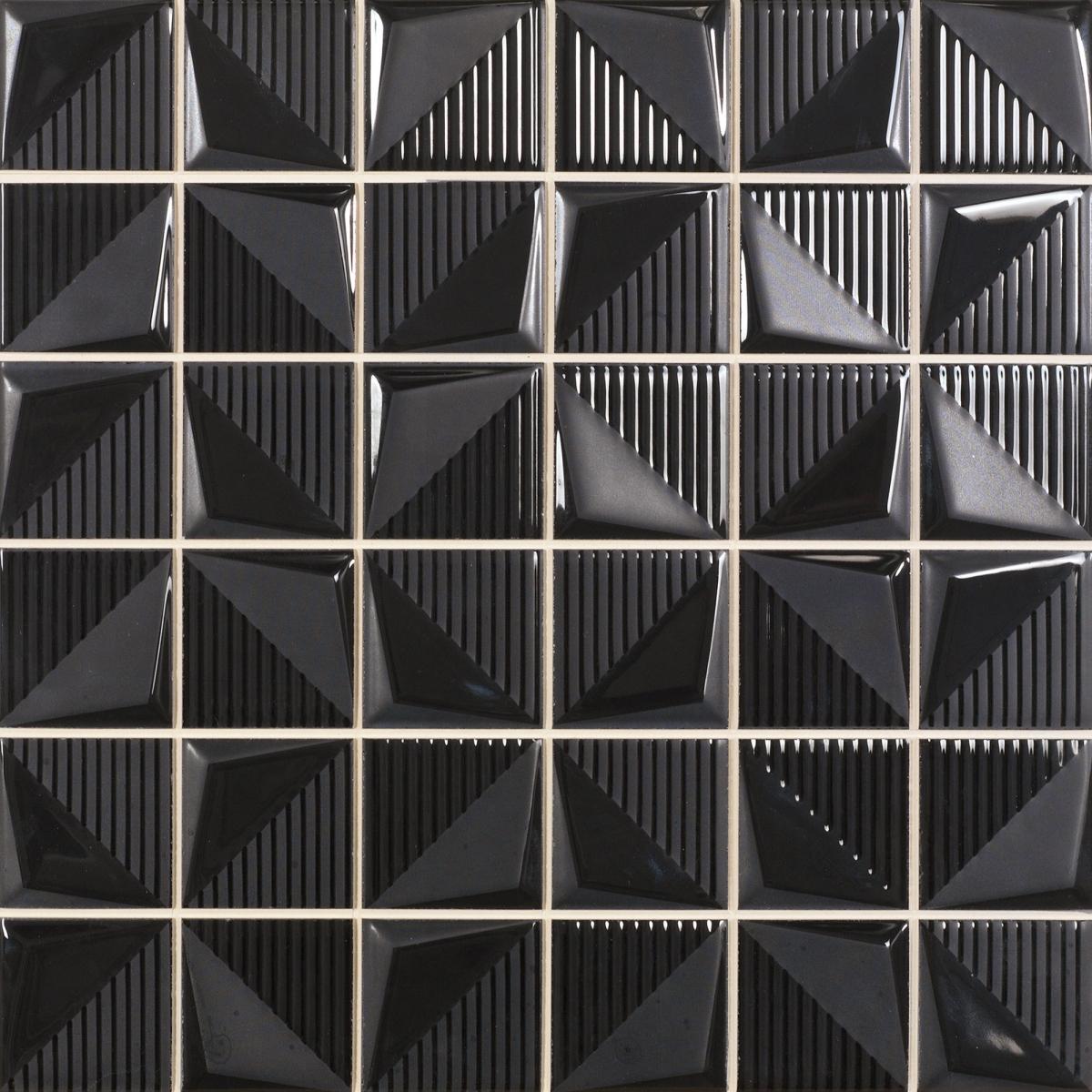 Mosaico Albi Negro 30x30