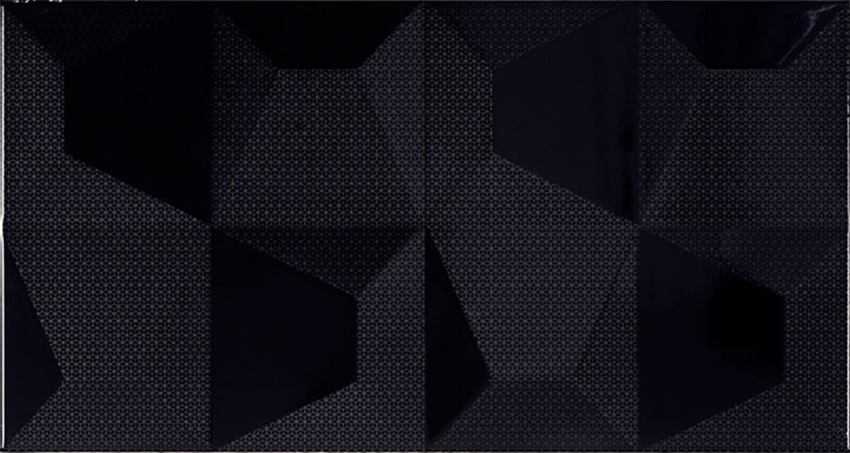 Cube Negro Relieve 325x60