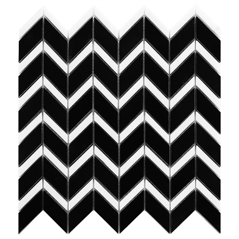 Pure Black Chevron Mix 31x305