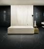 czarne płytki imitujace czarny marmur marquina do łazienki