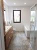 płytki jak dywan do łazienki nowoczesne inspiracje na łazienkę