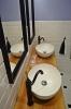 płytki kafelki łazienkowe białe ryflowane