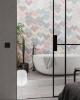 kolorowe płytki scienne 3d do łazienki