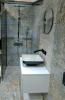 nowoczesna łazienka z płytkami carpet