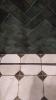 Aranżacja łazienki z płytkami Equipe Artisan Moss Green 6,5x20