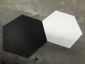 płytki hexagonalne białe i czarne podłogowe scienne