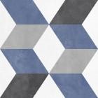 piekny patchwork szaro niebieski
