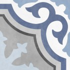 patchwork w kolorze szarym i niebieskim