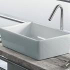 hatria umywalka prostokątna biała łazienka ceramika