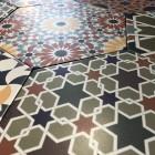 heksagonalne płytki gresowe w stylu paczwork