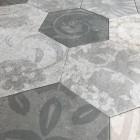 szary hexagon