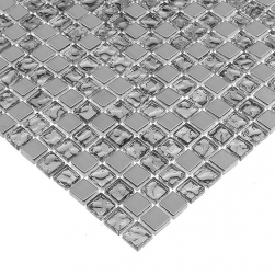 Dunin srebna mozaika 30x30 mozaika do łazienki