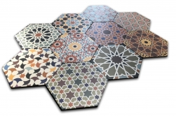 płytki heksagon patchwork