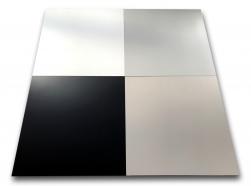 płytki gresowe w kolorach białym szarym czarnym taupe