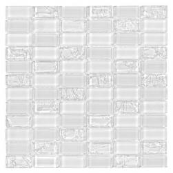 Dunin biała szklana mozaika mozaika łazienowa nowoczesna kucnia