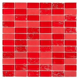 Dunin czerwona mozaika na ściane podłoge mozaika do łazineki 30x30