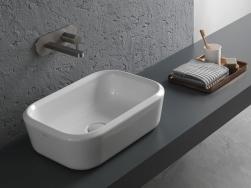 hatria umywalka nablatowa biała prostokątna ceramika łazienka