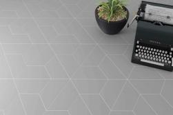 Trapezium Floor Grey Matt 9,8x23