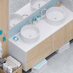łazienka biała umywalka nablatowa