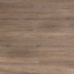 Podłoga ułożona z płytek brązowych drewnopodobnych Viggo Roble 20x120