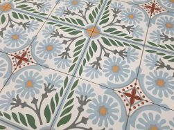 Gres patchwork geometryczny Aparici Altea Olivo Natural 59.2x59.2