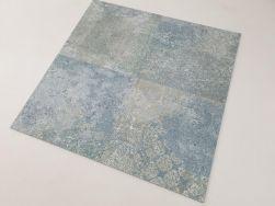 Płytki hiszpańskie niebiesko zielone Aparici Bohemian Blue Natural 59.55x59.55