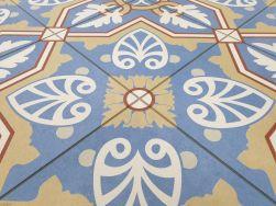 Płytki Aparici Altea Pinar Natural 59.2x59.2 niebiesko pomarańczowy patchwork