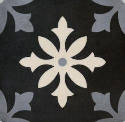 hiszpańskie płytki podłogowe matwowe patchwork gres nowoczesna łazienka kuchnia mrozoodporne Degas Art Negro 22,3x22,3