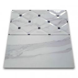 Azur płytki dekoracyjne ścienne pikowane