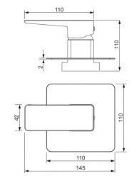 Parma bateria prysznicowa podtynkowa chrom PM7445CR
