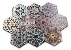 Płytki hexagon Realonda Andalusi 33x28,5 patchwork