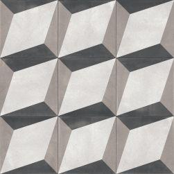 płytki patchwork 3d cube aparici Bondi Blocks Natural